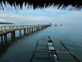 Tranquil view of the sea in Indonesia