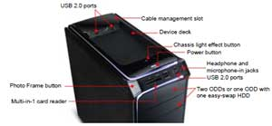 See  how all the features of the Packard Bell ixtreme desktop fit together
