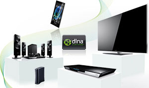 Thanks to DLNA capability, the E5 can 'communicate' with other devices