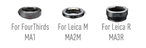 Optional adaptor rings available for a wide range of lenses
