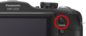 Dedicated exposure button for getting creative with the shutter speed setting