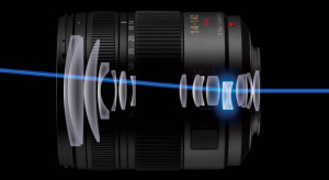 Panasonic's lens-integrated gyro system ensures power efficient and accurate vibration compensation