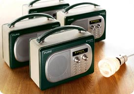 4 Pure Energy Saving recommended radios use less power than a low energy lightbulb
