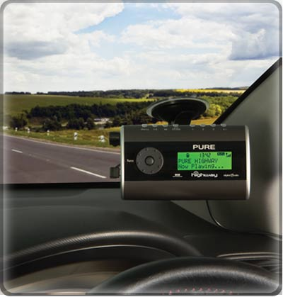 pure highway in car dab digital radio fm transmitter ebay. Black Bedroom Furniture Sets. Home Design Ideas