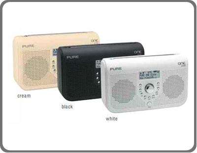 pure one elite portable stereo dab fm radio white tv. Black Bedroom Furniture Sets. Home Design Ideas