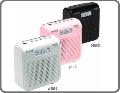 pure one mini compact portable dab fm radio white tv. Black Bedroom Furniture Sets. Home Design Ideas