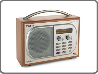 pure tempus 1s luxury dab fm clock radio cherry amazon. Black Bedroom Furniture Sets. Home Design Ideas