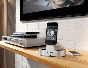 i-20 is the perfect way to connect your iPod or iPhone to your hi-fi system or HDTV