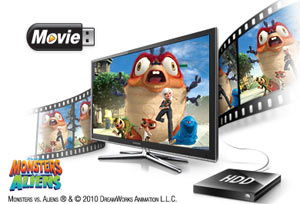 Plug-in your USB device to record your favourite shows, watch videos or listen to your music