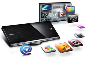 Watch great services like LOVEFiLM, BBC iPlayer, Twitter, YouTube and many others directly through your TV