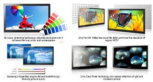 The advanced features of Samsung LCD TVs produce stunning picture quality