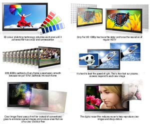 The advanced features of Samsung Plasma TVs produce stunning picture quality