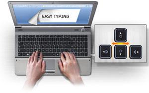 Island style keyboard has an elegant style