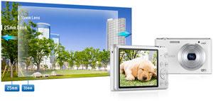 F2.5, 25mm, 5X Zoom Lens / 16.2 Mega Pixels