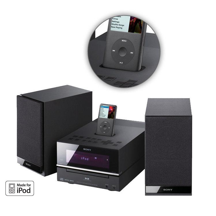 sony hcd bx77dbi mini hi fi with dab cd ipod dock ebay. Black Bedroom Furniture Sets. Home Design Ideas
