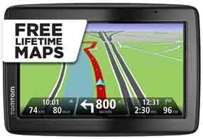 Free Lifetime Maps with the TomTom Via 135 EU M
