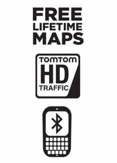 FREE Lifetime Maps, Speak & GO, and Hands-Free calling via Bluetooth™