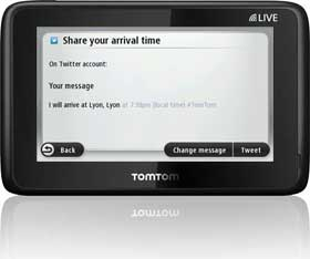 Use Twitter™ on your journey to keep your contacts up to date on your destination and arrival time.