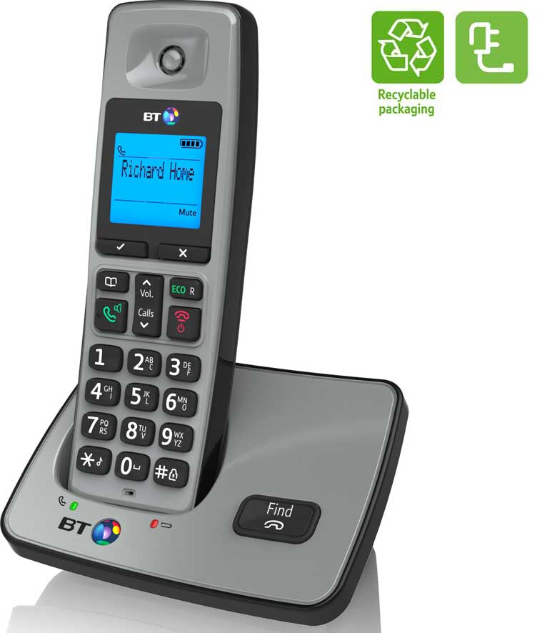 The stylish BT2000 phone is energy efficient and also comes with