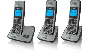 The BT2000 is available with up to two extra handsets  for other rooms, with no need for additional phone sockets
