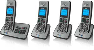 The BT2500 is available with up to three extra handsets  for other rooms, with no need for additional phone sockets