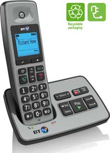 The stylish BT2500 phone is energy efficient and also comes with recyclable packaging