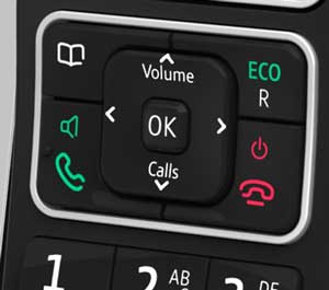 Large and durable buttons make dialling easy and accurate.
