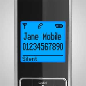 The large, clear screen makes it easy to see the incoming call alerts and to scroll through your contacts.