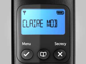 The bright and clear digital display makes it easy to see who is calling