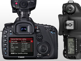 The new menu layout and ergonomic control dial makes using the EOS 7D a breeze.