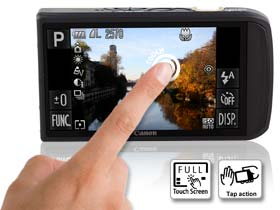 """The massive 3.5"""" PureColor II touchscreen makes for easy picture  taking"""