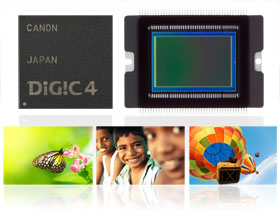 Canon's CMOS Sensor & DIGIC 4 Processor combine to give execptional performance.