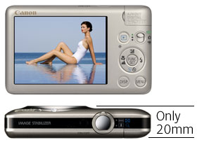 At only 20mm thick the stylish new  IXUS 120 IS is the thinnest IXUS yet