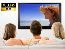 The full HD CMOS Sensor gives true  HD quality for excellent reproduction