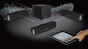 With the ZiiSound D5x, you can easily stream music from any Bluetooth-enabled device to one or more speakers