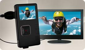 The Creative Vado HD produces optimal video quality when connected to your HD TV via the optional HDMI cable