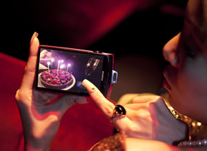 The FinePix Z1000EXR's features a multi-touch wide 3.5-inch LCD screen