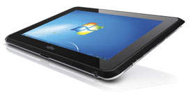 Windows 7 Professional based for a trusted and engaging Tablet experience