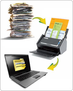 The S1500 can handle large amounts of documents