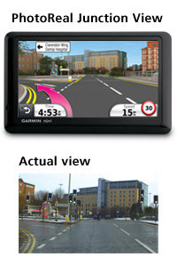 Garmin nüvi 1440: PhotoReal™ Junction View