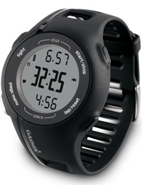 Garmin Forerunner 210: Displays distance, time and pace