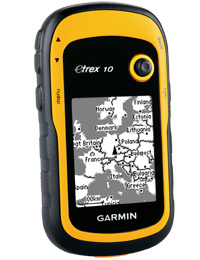 Garmin eTrex 10: Comes with a basemap for Europe