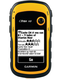 Garmin eTrex 10: Great for geocaching