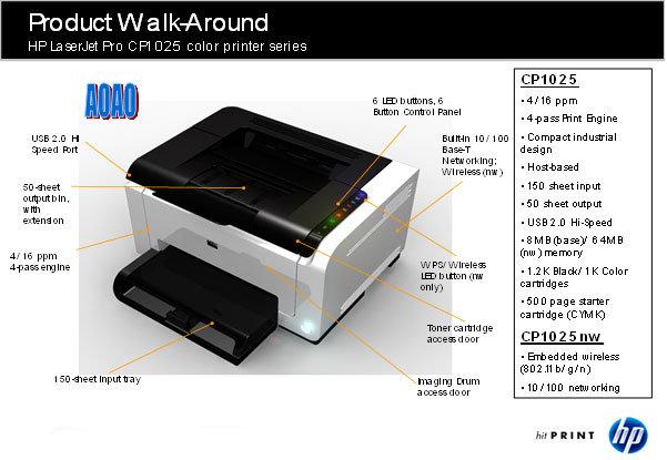 HP Laserjet Pro CP1025 Color Laser - Hemelektronik - CDON.COM