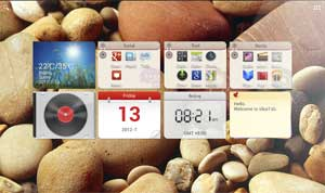The new Lenovo Mondrian User Interface works with Google Android 4.0 to make your tablet easy to customise.