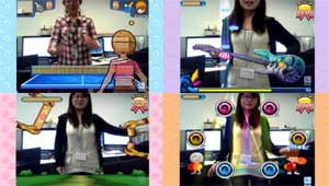 Camera Fun Zone allows you to interact with fun games using the 720p HD webcam.