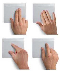 The Intelligent Touchpad allows you to perform intuitive multi-finger commands.