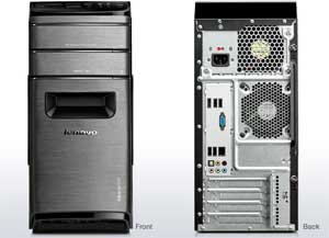 The Lenovo IdeaCentre K430 has a stylish and user-friendly chassis design