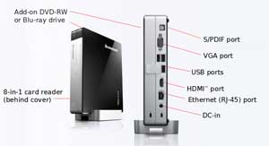 See all the features packed into the compact IdeaCentre Q180