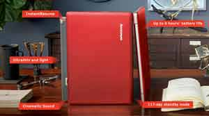 The stylish and thin Lenovo IdeaPad U300 Ultrabook combines smart performance with a long-lasting battery